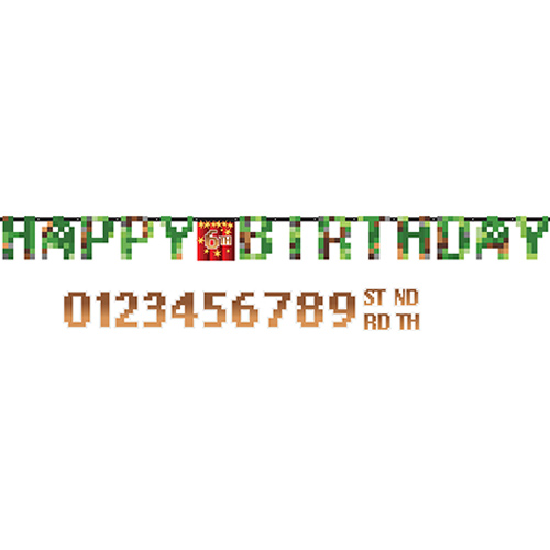 TNT Party Happy Birthday Add-an-Age Cardboard Letter Banner 3.2m Product Image