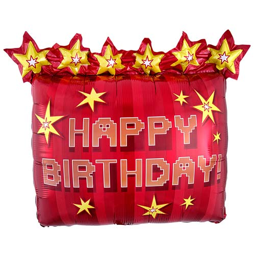 TNT Party Happy Birthday Dynamite Helium Foil Giant Balloon 63cm / 25 in Product Image