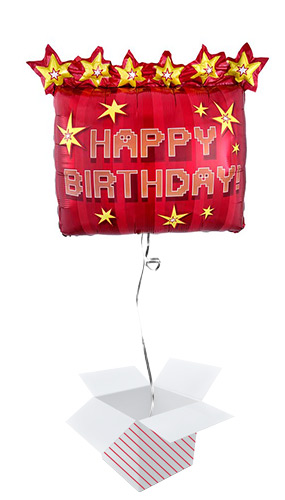 TNT Party Happy Birthday Dynamite Helium Foil Giant Balloon - Inflated Balloon in a Box Product Image