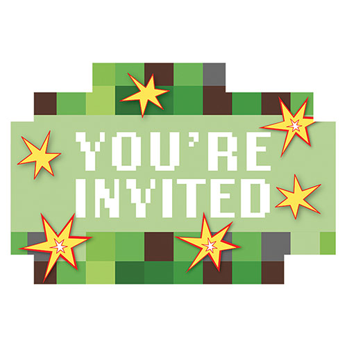 TNT Party Invitations with Envelopes - Pack of 8 Product Image