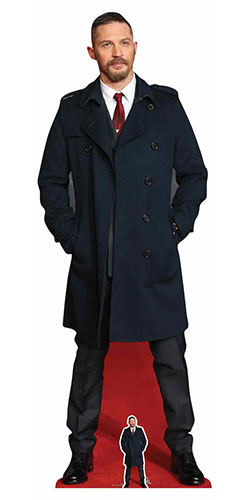 Tom Hardy Long Black Coat Lifesize Cardboard Cutout 177cm Product Image