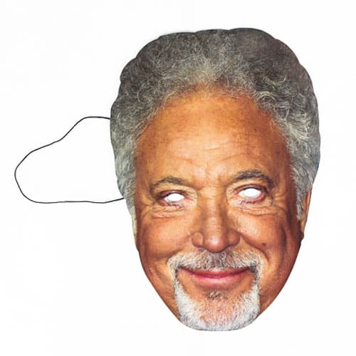 Tom Jones Cardboard Face Mask