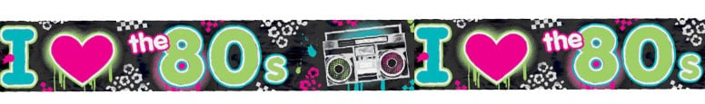 Totally 80s Foil Banner 7.6m Product Image