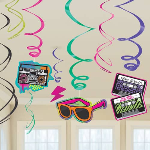 Totally 80s Hanging Swirl Decoration Product Image