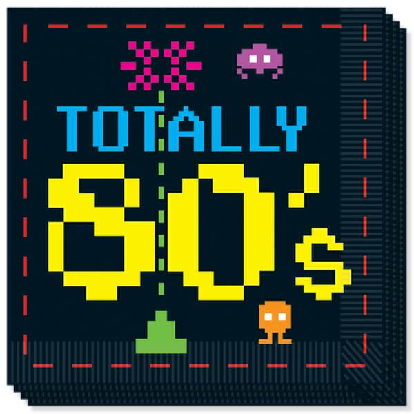 Totally 80's 2 Ply Luncheon Napkins - 13 Inches / 33cm - Pack of 16