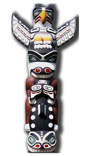 Totem Pole Lifesize Cardboard Cutout - 171cm Product Image