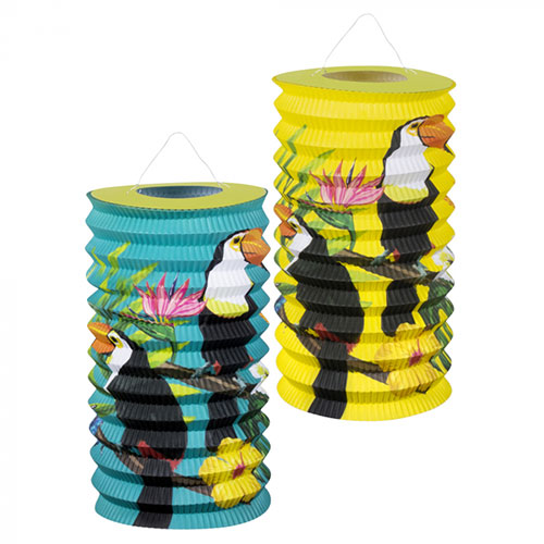 Toucan Hawaiian Paper Lanterns 16cm - Pack of 2