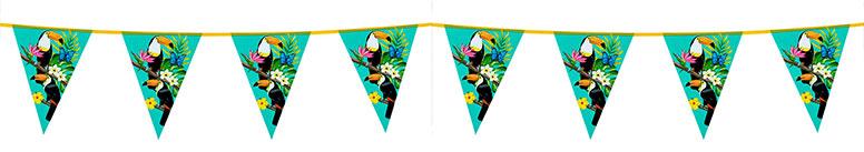 Toucan Hawaiian Plastic Pennant Bunting 6m Product Image
