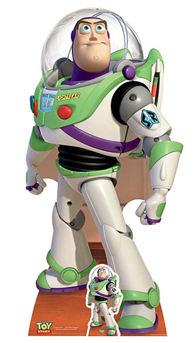 Toy Story Buzz Lightyear Lifesize Cardboard Cutout - 152cm Product Image