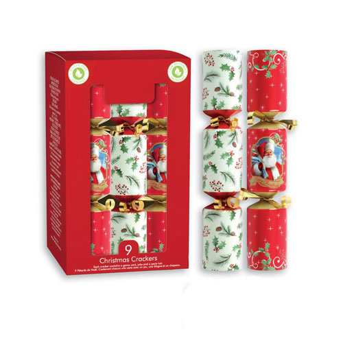 Traditional Christmas Crackers 20cm / 8 in - Pack of 9 Product Image