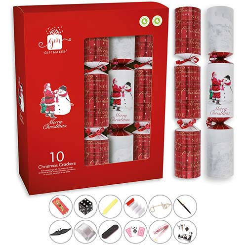 Traditional Santa Christmas Crackers 34cm / 13 in - Pack of 10 Product Image