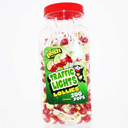 Traffic Light Lolly Vegetarian Sweet - Pack of 200 Product Image