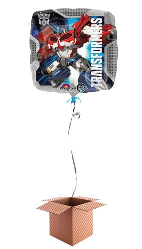 Transformers Square Foil Balloon - Inflated Balloon in a Box Product Image