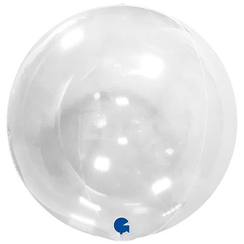 Transparent 4D Globe Foil Helium Balloon 38cm / 15 in Product Image