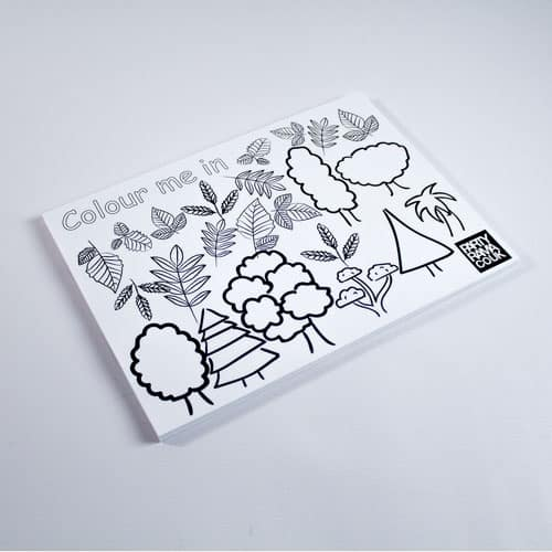 Trees Themed A4 Colouring sheet Product Image
