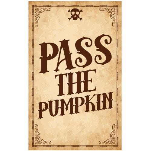 Pass The Pumpkin Skull Halloween PVC Party Sign Decoration 25cm x 41cm Product Image
