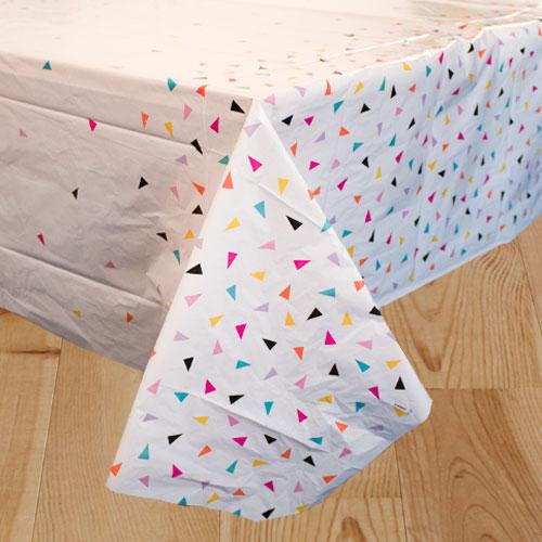 Triangle Confetti Plastic Tablecover 213cm x 137cm Product Image