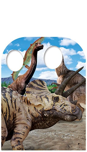 Triceratops Child Stand-In Lifesize Cardboard Cutout 131cm Product Image