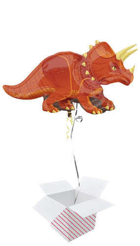 Triceratops Dinosaur Helium Foil Giant Balloon - Inflated Balloon in a Box