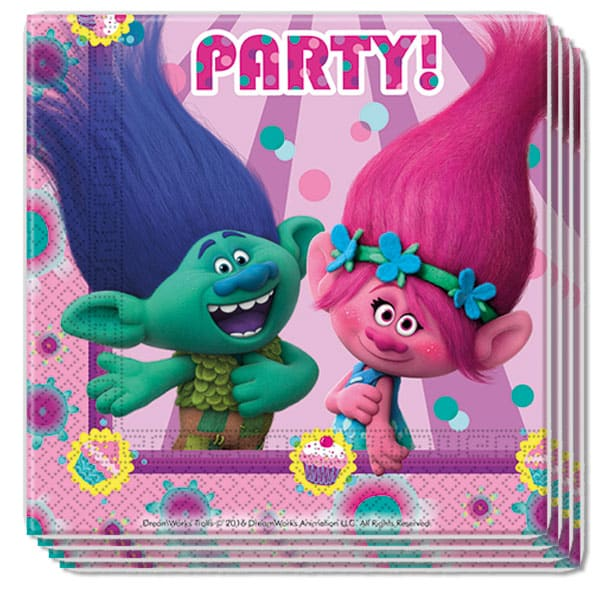 Trolls 2 Ply Napkins - 33cm - Pack of 20 Bundle Product Image