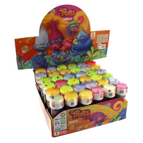 Trolls Bottle Bubbles - 60ml - Pack Of 36 Product Image