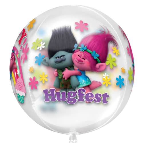 Trolls Clear Orbz Balloon 38cm / 15 in Product Image