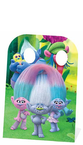 Trolls Cooper And Biggie Stand In Cardboard Cutout - 136cm Product Image