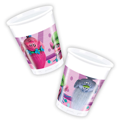 Trolls Party Plastic Cups 200ml - Pack of 8