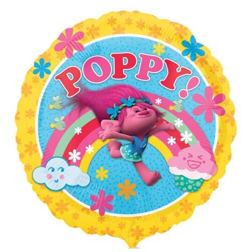 Trolls Poppy Round Foil Helium Balloon 43cm / 17Inch