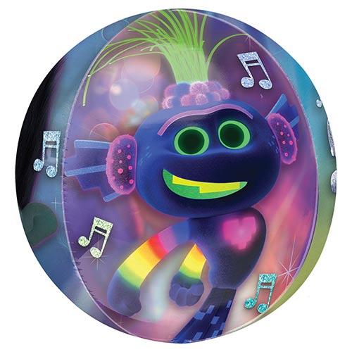 Trolls World Tour Clear Orbz Foil Helium Balloon 38cm / 15 in