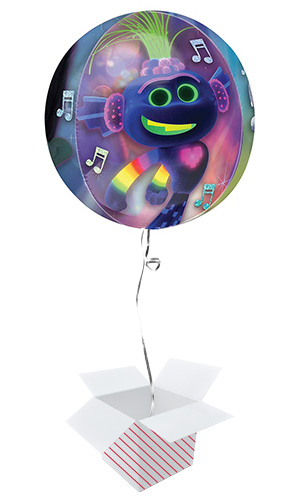 Trolls World Tour Clear Orbz Foil Helium Balloon - Inflated Balloon in a Box Product Image