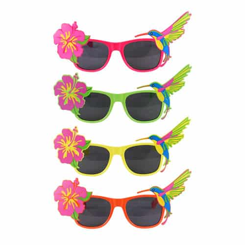 Tropical Design With Flower Fancy Dress Glasses Product Image