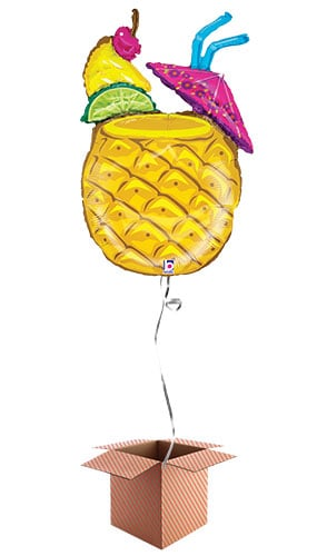 Tropical Drink Helium Foil Giant Balloon - Inflated Balloon in a Box Product Image
