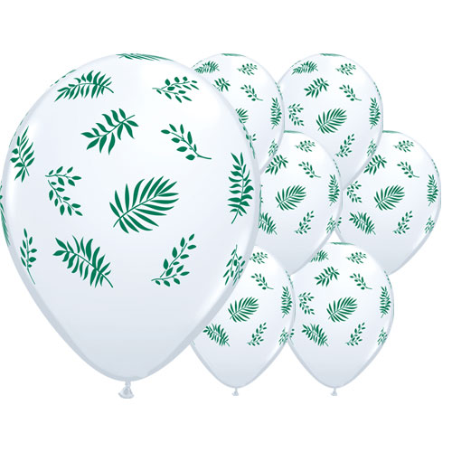 Tropical Greenery Latex Helium Qualatex Balloons 28cm / 11 Inch - Pack of 25