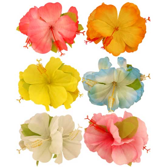 Tropical Hawaiian Hibiscus Flower Hair Clip Product Image