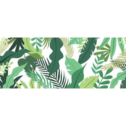 Tropical Leaves Illustration PVC Party Sign Decoration 60cm x 25cm