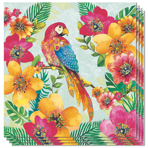 Tropical Parrot Luncheon Napkins 3Ply 33cm - Pack of 20 Product Image