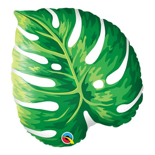 Tropical Philodendron Leaf Shape Helium Foil Qualatex Balloon 53cm / 21 Inch