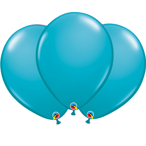 Tropical Teal Blue Latex Qualatex Balloons 40cm / 16 in - Pack of 50 Product Image