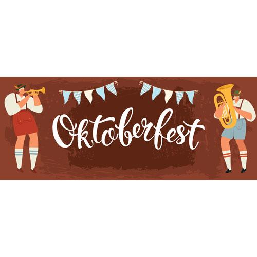Trumpet & Tuba Oktoberfest Large PVC Banner Decoration 3m x 1.2m Product Image