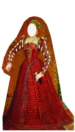 Tudor Woman Stand In Cardboard Cutout - 176cm