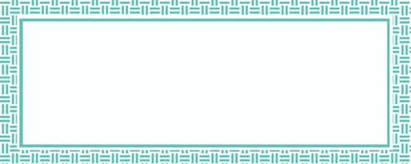 Turquoise Aztec Pattern Design Medium Personalised Banner - 6ft x 2.25ft