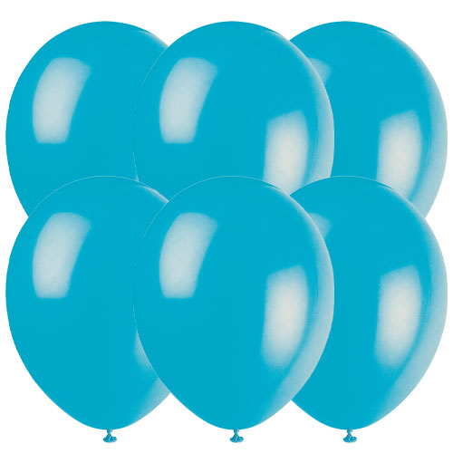 Turquoise Biodegradable Latex Balloons 30cm / 12 in - Pack of 10 Product Image