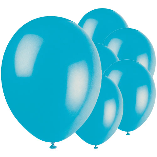 Turquoise Biodegradable Latex Balloons 30cm / 12 in - Pack of 50 Product Image
