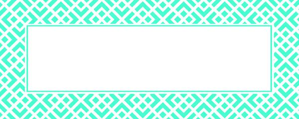 Turquoise Ornamental Pattern Design Small Personalised Banner - 4ft x 2ft