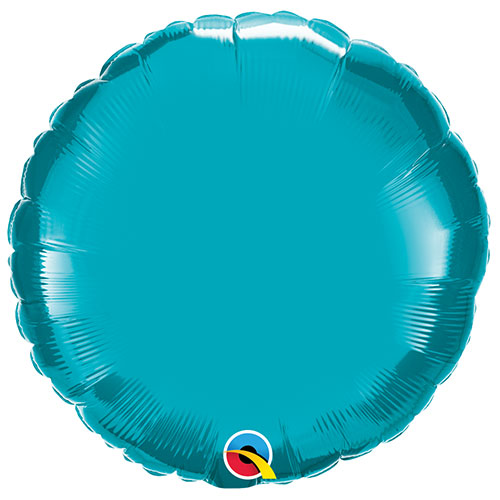 Turquoise Round Foil Helium Qualatex Balloon 46cm / 18 in