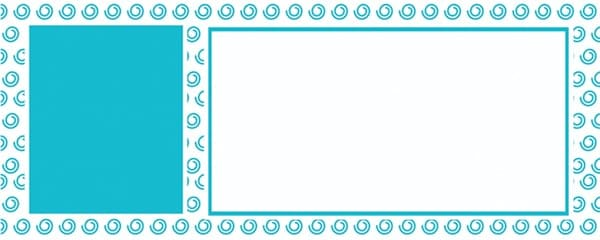 Turquoise Swirl Pattern Design Small Personalised Banner - 4ft x 2ft