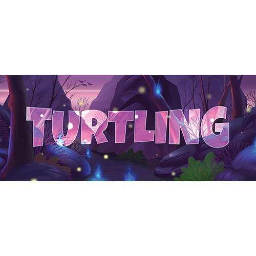 Turtling Forest Background PVC Party Sign Decoration 60cm x 25cm Product Image