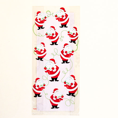 Twinkle Santa Cello Bags with Twist Ties - Pack of 20 Product Image