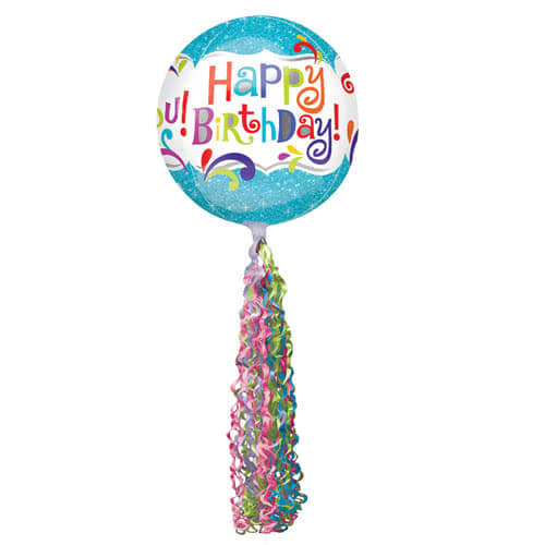 Twirlz Medium Pink Balloon Tail 86cm Product Gallery Image